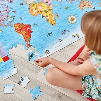 Puzzle si poster Harta lumii (limba engleza 150 piese) WORLD MAP PUZZLE & POSTER8