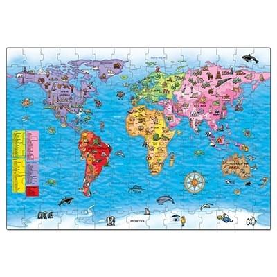 Puzzle si poster Harta lumii (limba engleza 150 piese) WORLD MAP PUZZLE & POSTER5