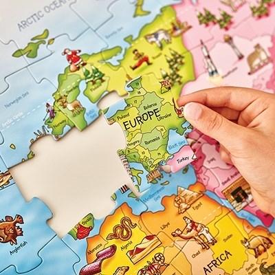 Puzzle si poster Harta lumii (limba engleza 150 piese) WORLD MAP PUZZLE & POSTER9