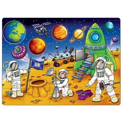 Puzzle Spatiul cosmic (25 piese) WHO'S IN SPACE1