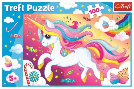 Puzzle Trefl 100 Frumosul unicorn [2]