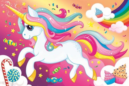 Puzzle Trefl 100 Frumosul unicorn [1]