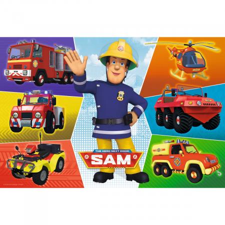 Puzzle Trefl 100 Masinile pompierului Sam [1]