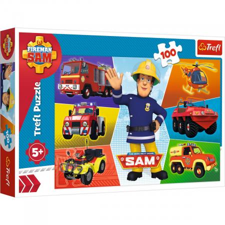 Puzzle Trefl 100 Masinile pompierului Sam [0]
