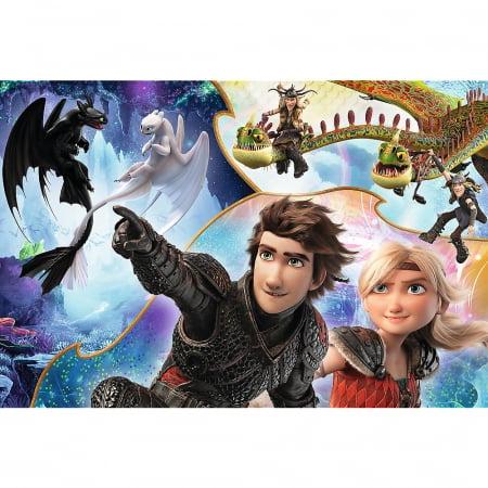 Puzzle Trefl 100 pe tarmul dragonilor [1]