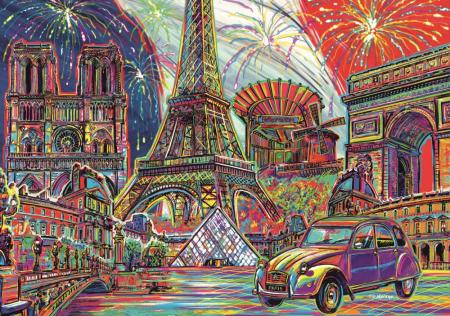 Puzzle Trefl 1000 culorile Parisului [1]