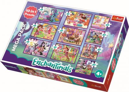 Puzzle Trefl 10in1 Aventurile Enchantimals [0]