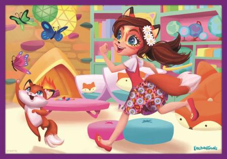 Puzzle Trefl 10in1 Aventurile Enchantimals [3]