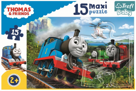 Puzzle Trefl 15 maxi Thomas locomotive in viteza [2]
