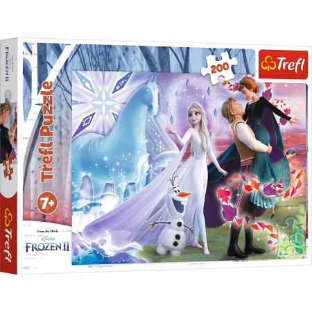 Puzzle Trefl 200 Frozen2 universul magic [0]