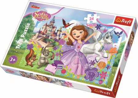Puzzle Trefl 24 maxi lumea colorata a Sofiei [0]