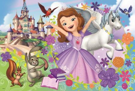 Puzzle Trefl 24 maxi lumea colorata a Sofiei [1]