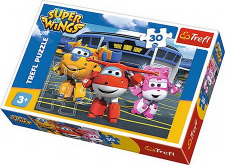Puzzle Trefl 30 Prieteni in hangar [0]