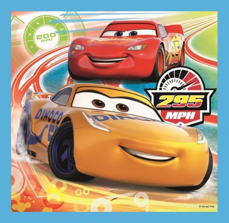 Puzzle Trefl 3in1 Cars pregatiri pentru cursa [1]