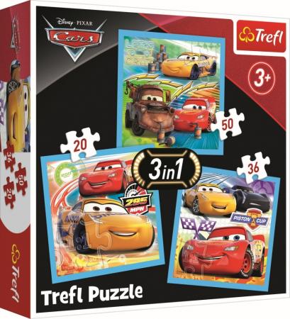 Puzzle Trefl 3in1 Cars pregatiri pentru cursa [0]