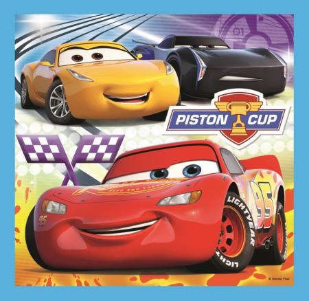 Puzzle Trefl 3in1 Cars pregatiri pentru cursa [2]