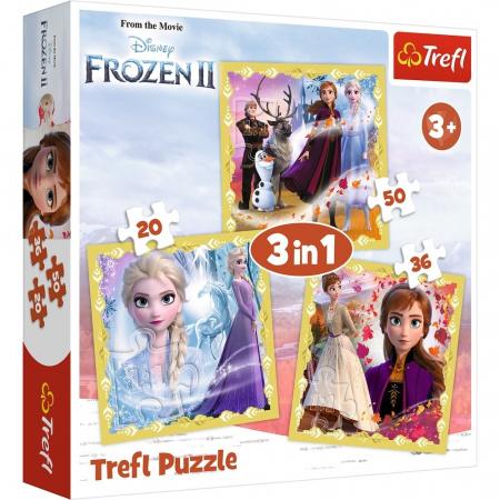 PUZZLE TREFL 3IN1 FROZEN2 ANA SI ELSA [0]