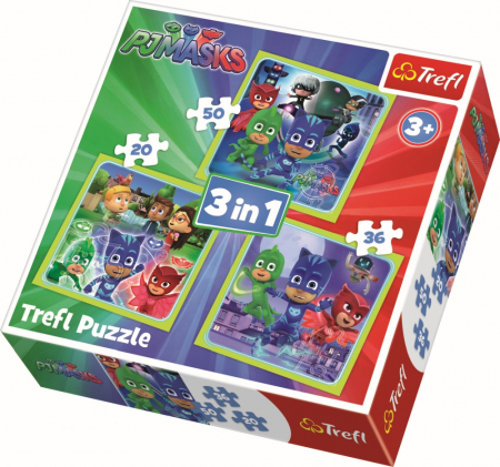 Puzzle Trefl 3in1 Pregatiti de actiune [0]