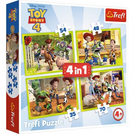 Puzzle Trefl 4in1 eroii ToyStory4 in actiune [0]