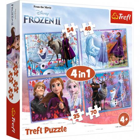 Puzzle Trefl 4in1 Frozen 2 Calatorie catre necunoscut [0]