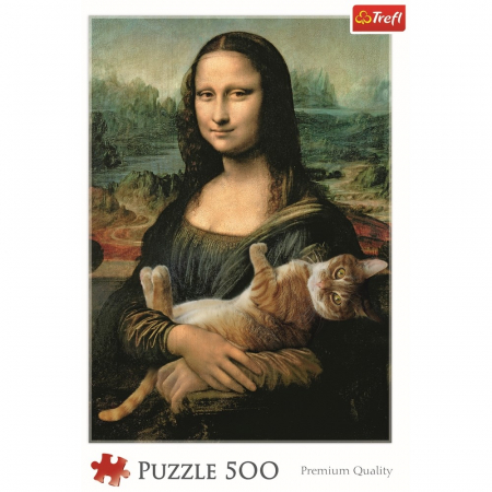 Puzzle Trefl 500 Monalisa cu pisica [2]