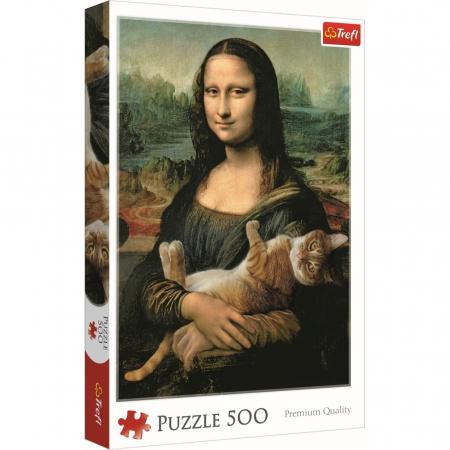 Puzzle Trefl 500 Monalisa cu pisica [0]