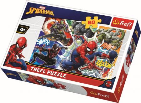 Puzzle Trefl 60 curajosul Spiderman [0]
