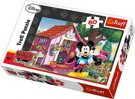 Puzzle Trefl 60 Mickey si Minnie in gradina [0]