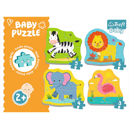 PUZZLE TREFL BABY CLASIC ANIMALE SAFARI [6]