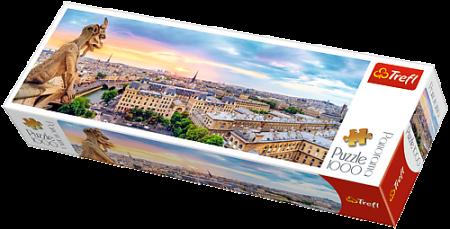 Puzzle Trefl 1000 Panorama de pe catedrala Notre Dame Paris [1]
