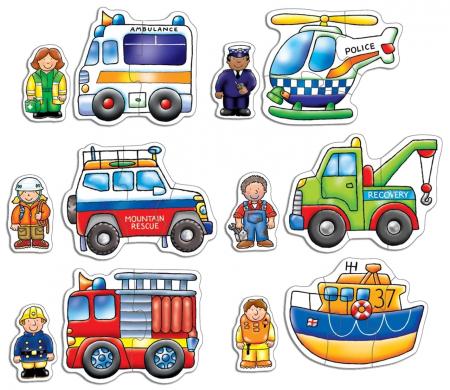 Set 6 puzzle Echipa de salvare (2 si 3 piese) RESCUE SQUAD [1]