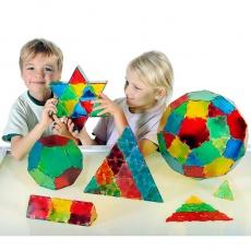 Set constructii Polydron Translucent 24 pentagoane1