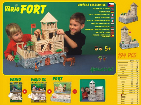 Set de construit Vario Fort – joc educativ Walachia1