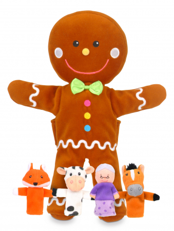 Set de papusi si marionete Omul de turta dulce / Gingerbread Man Hand and Finger Pupper Set0