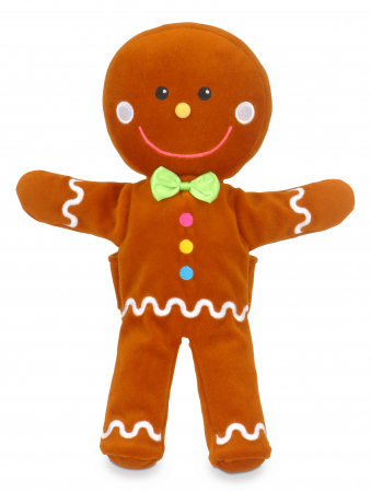 Set de papusi si marionete Omul de turta dulce / Gingerbread Man Hand and Finger Pupper Set3