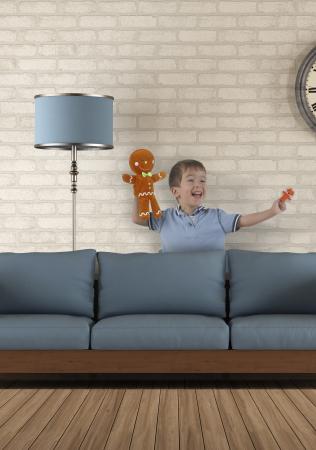 Set de papusi si marionete Omul de turta dulce / Gingerbread Man Hand and Finger Pupper Set1