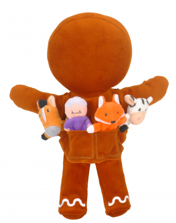 Set de papusi si marionete Omul de turta dulce / Gingerbread Man Hand and Finger Pupper Set2