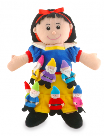 Set papusa si marionete Alba ca Zapada si cei 7 pitici / Snow White and the Seven Dwarfs - Fiesta Crafts2