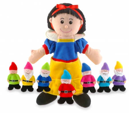 Set papusa si marionete Alba ca Zapada si cei 7 pitici / Snow White and the Seven Dwarfs - Fiesta Crafts0