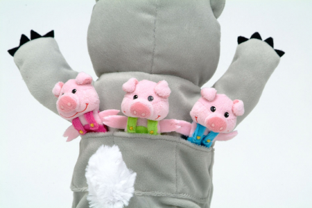 Set Papusa si marionete Cei 3 purcelusi / Big Bad Wolf and the Three Little Pigs - Fiesta Crafts3