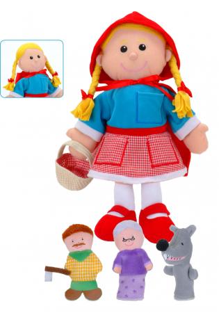 Set Papusa si marionete Scufita Rosie / Red Riding Hood - Fiesta Crafts2
