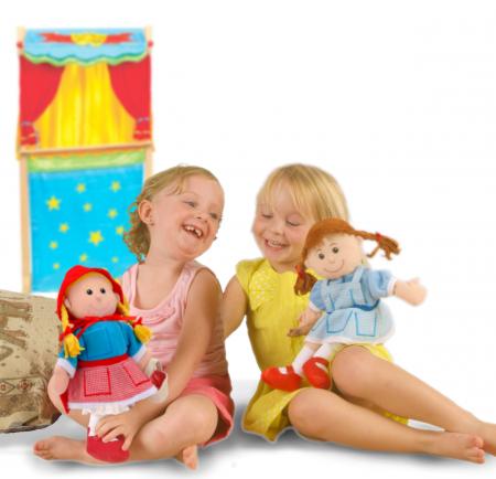 Set Papusa si marionete Scufita Rosie / Red Riding Hood - Fiesta Crafts4