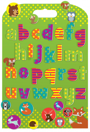 Stickere cu animale / Woodland Animals Alphabet0