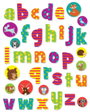Stickere cu animale / Woodland Animals Alphabet1