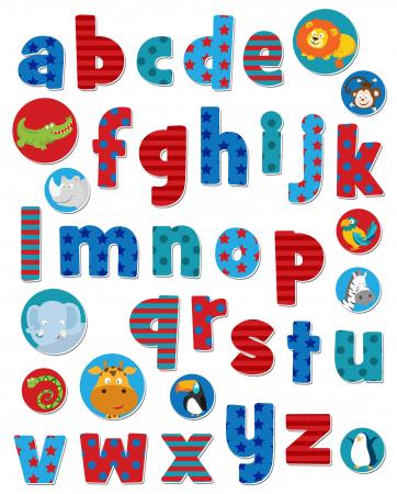 Stickere cu litere / Wild Animals Alphabet Stickabouts2