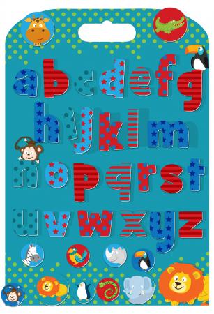 Stickere cu litere / Wild Animals Alphabet Stickabouts0