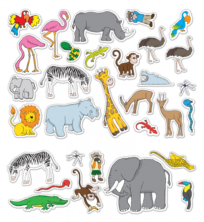 Stickere Zoo - Fiesta Crafts4