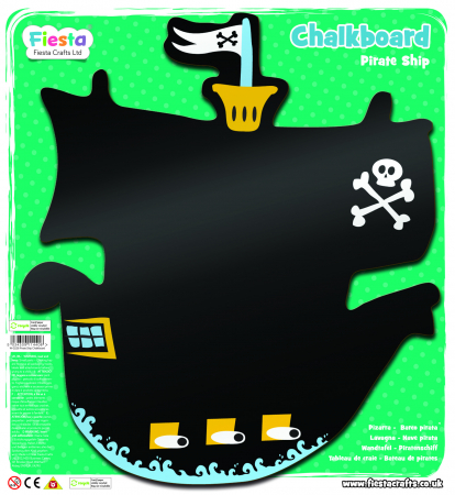 Tabla corabia piratilor / Pirate Ship Chalkboard - Fiesta Crafts1
