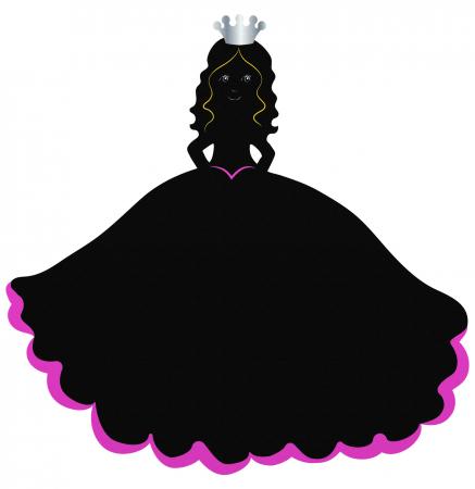Tabla Printesa / Princess Chalkboard - Fiesta Crafts3