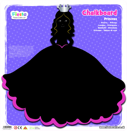 Tabla Printesa / Princess Chalkboard - Fiesta Crafts1